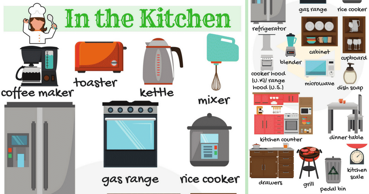 Kitchen Appliances: List of Kitchen Objects & Gadgets 1