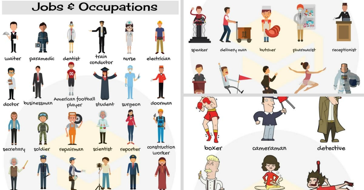 jobs and occupations vocabulary list of jobs in english