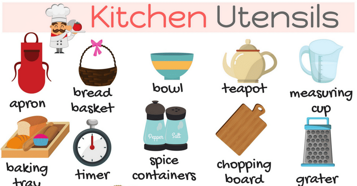 Kitchen Utensils Voary In English Things The
