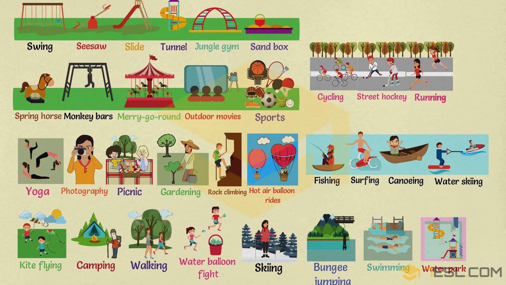 Outdoor Activities: List of Outdoor Activities with Pictures