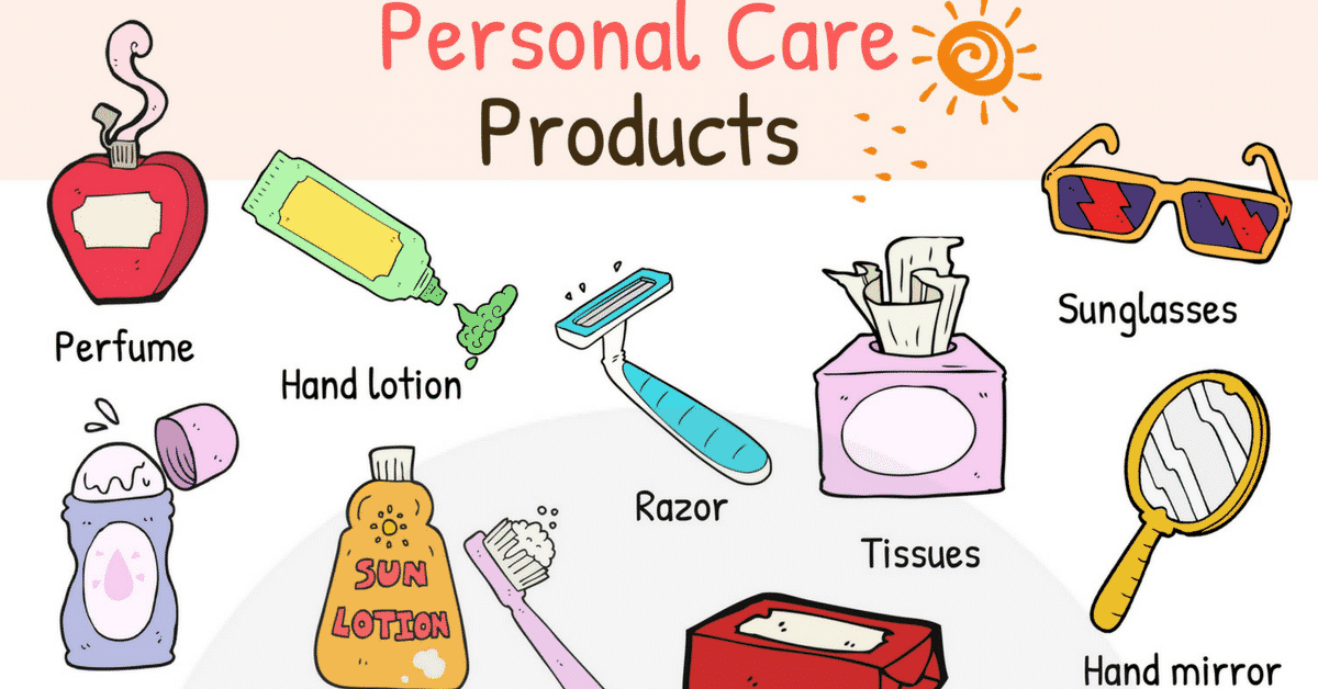 Personal Care Products Vocabulary | Personal Care List 1