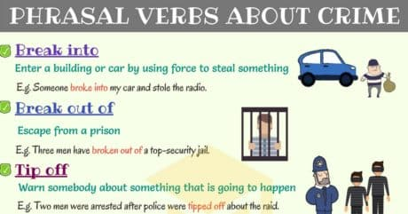 Common Phrasal Verbs about Crime in English 5