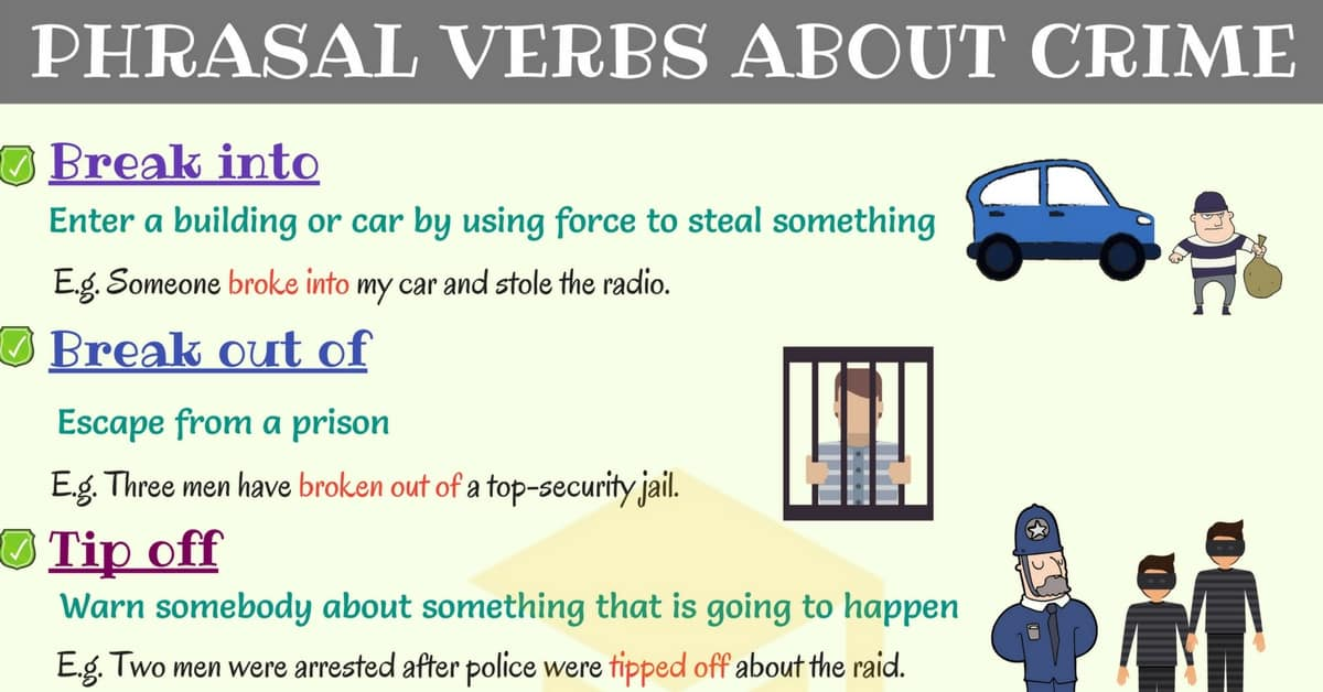 Crime Vocabulary: Common Phrasal Verbs about Crime 1