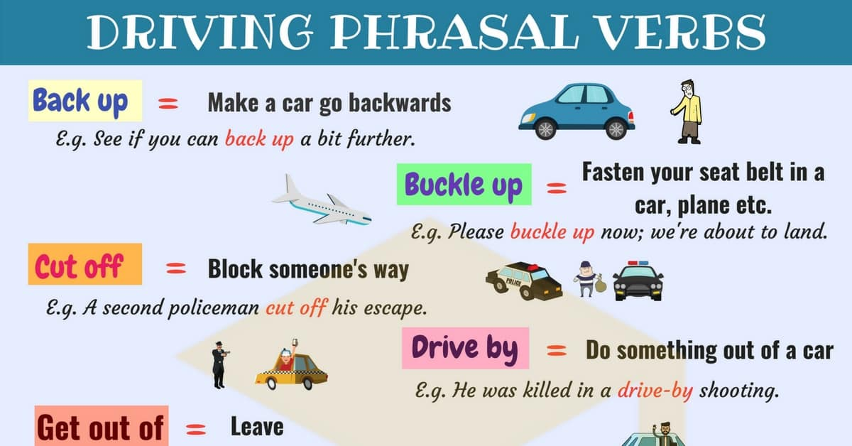 Driving Vocabulary: 15 Common Driving Phrasal Verbs in English 12