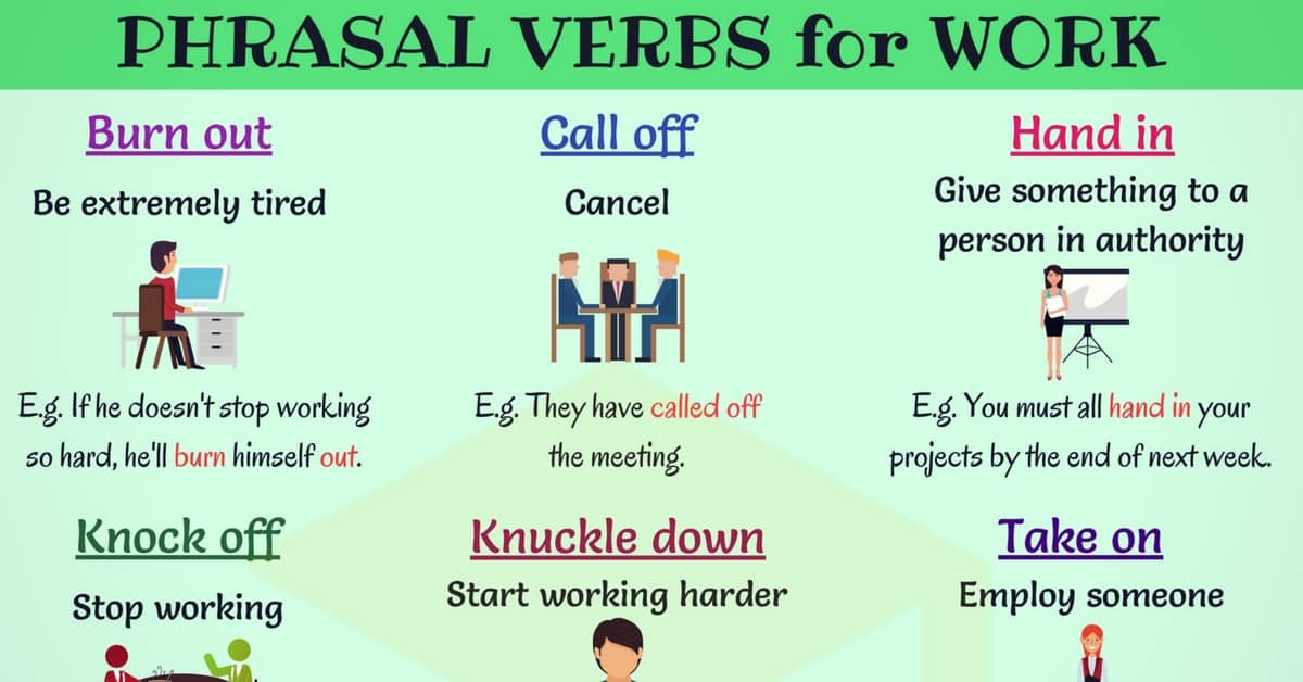 14 Useful Phrasal Verbs for Work in English 1