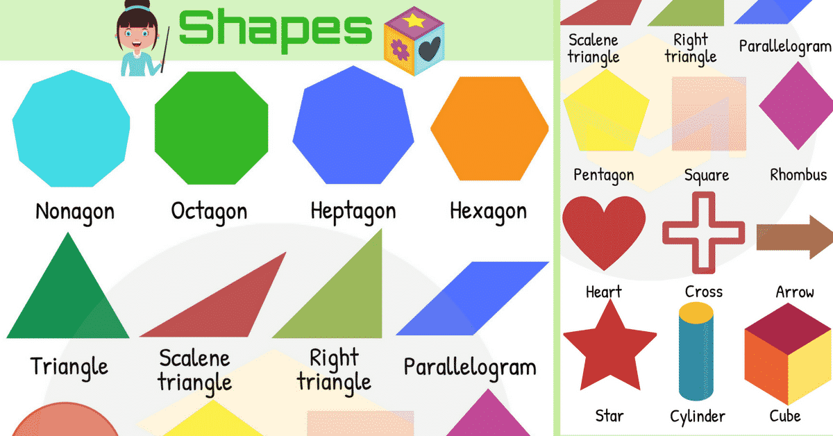 Shapes Names: List of Different Types of Geometric Shapes 1
