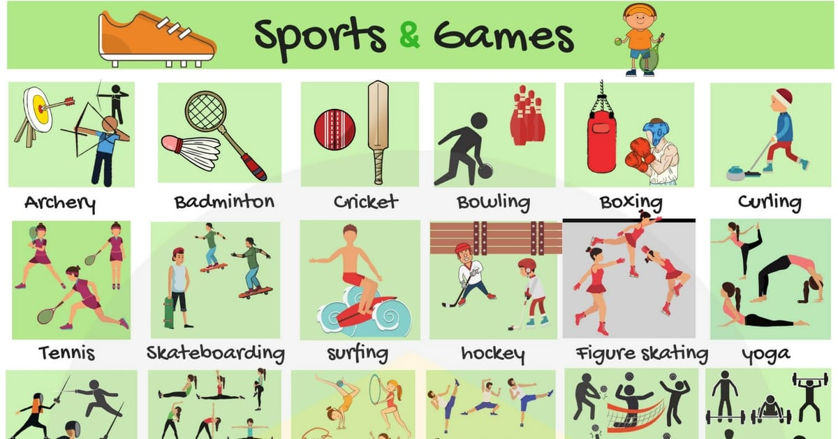 Sports and Games Vocabulary in English | Names of Sports 1
