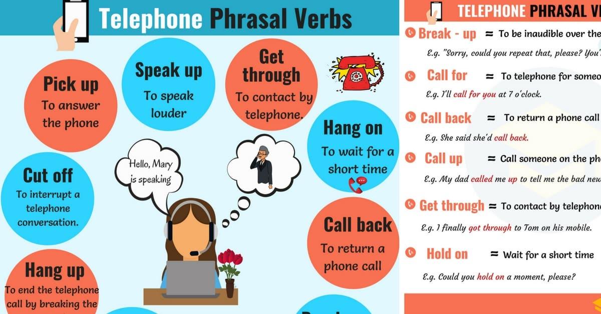 12 Useful Telephone Phrasal Verbs in English