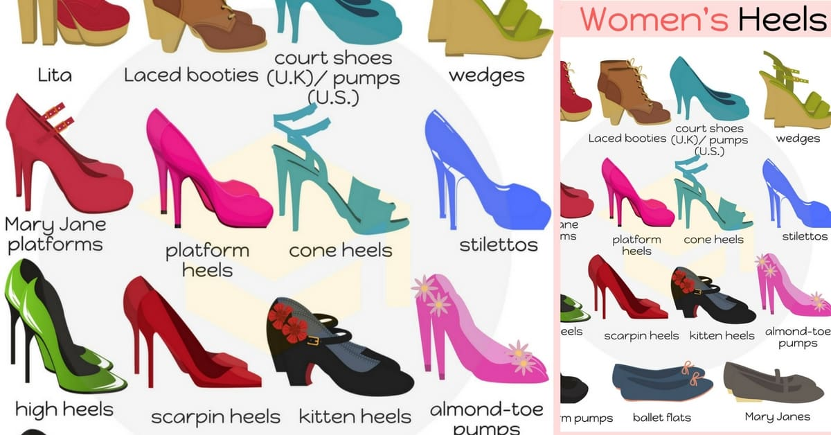 Women S Shoes Types Of Heels
