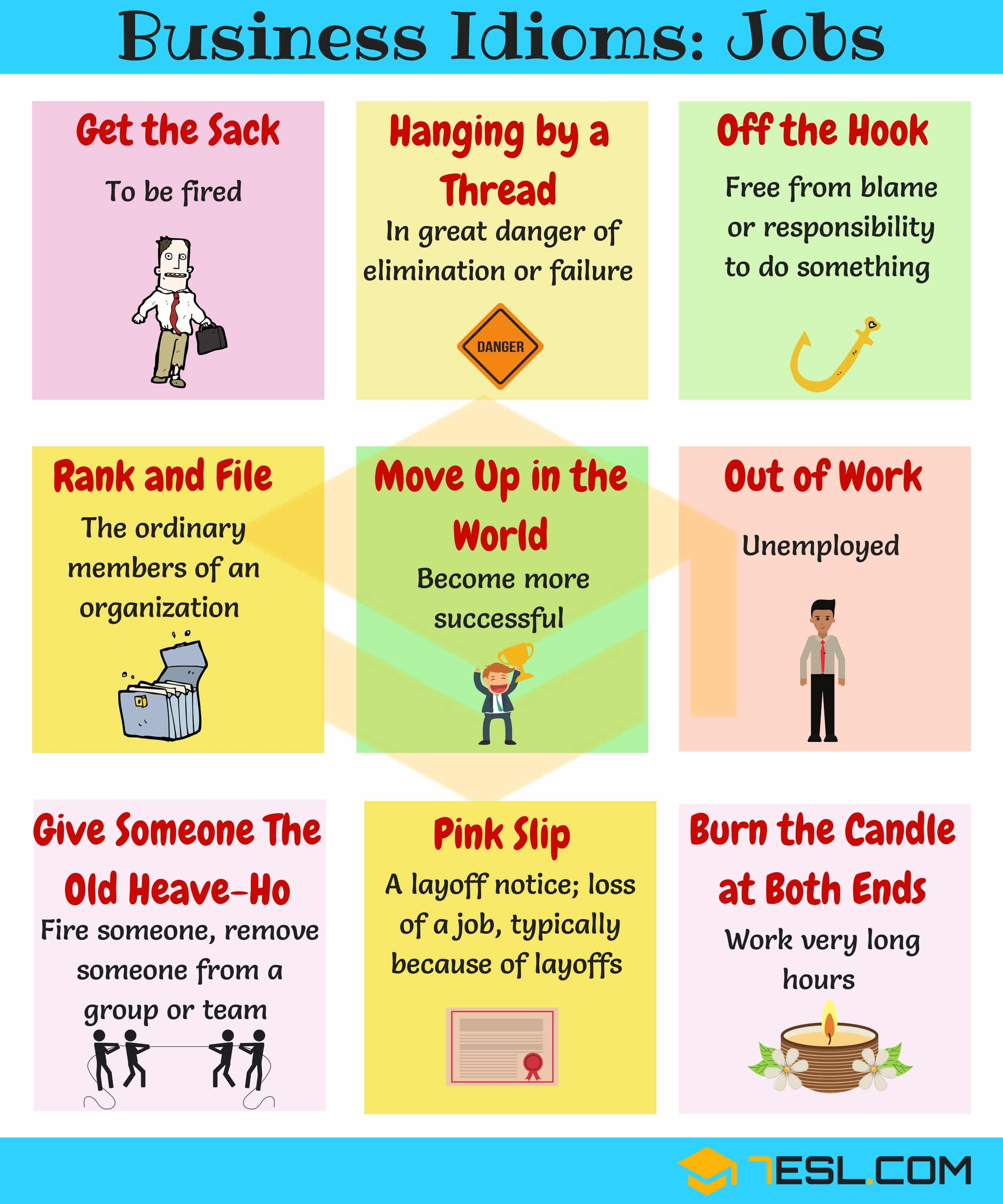 10+ Useful Idioms Related to Jobs in English | Learn Job Idioms