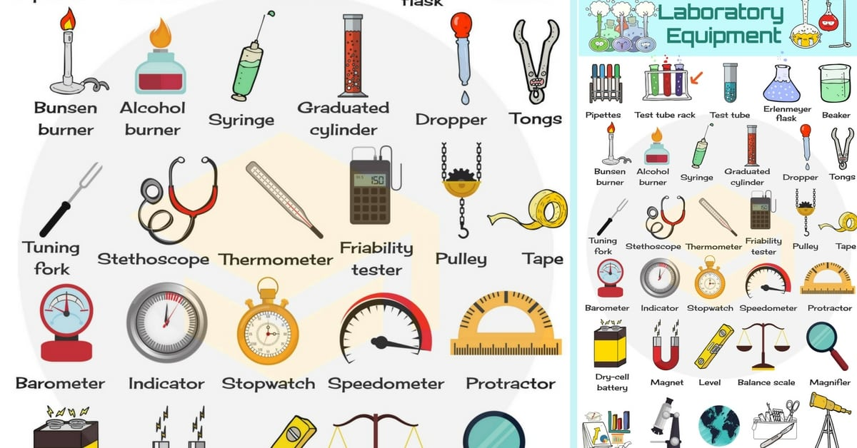 Laboratory Equipment Vocabulary in English 236