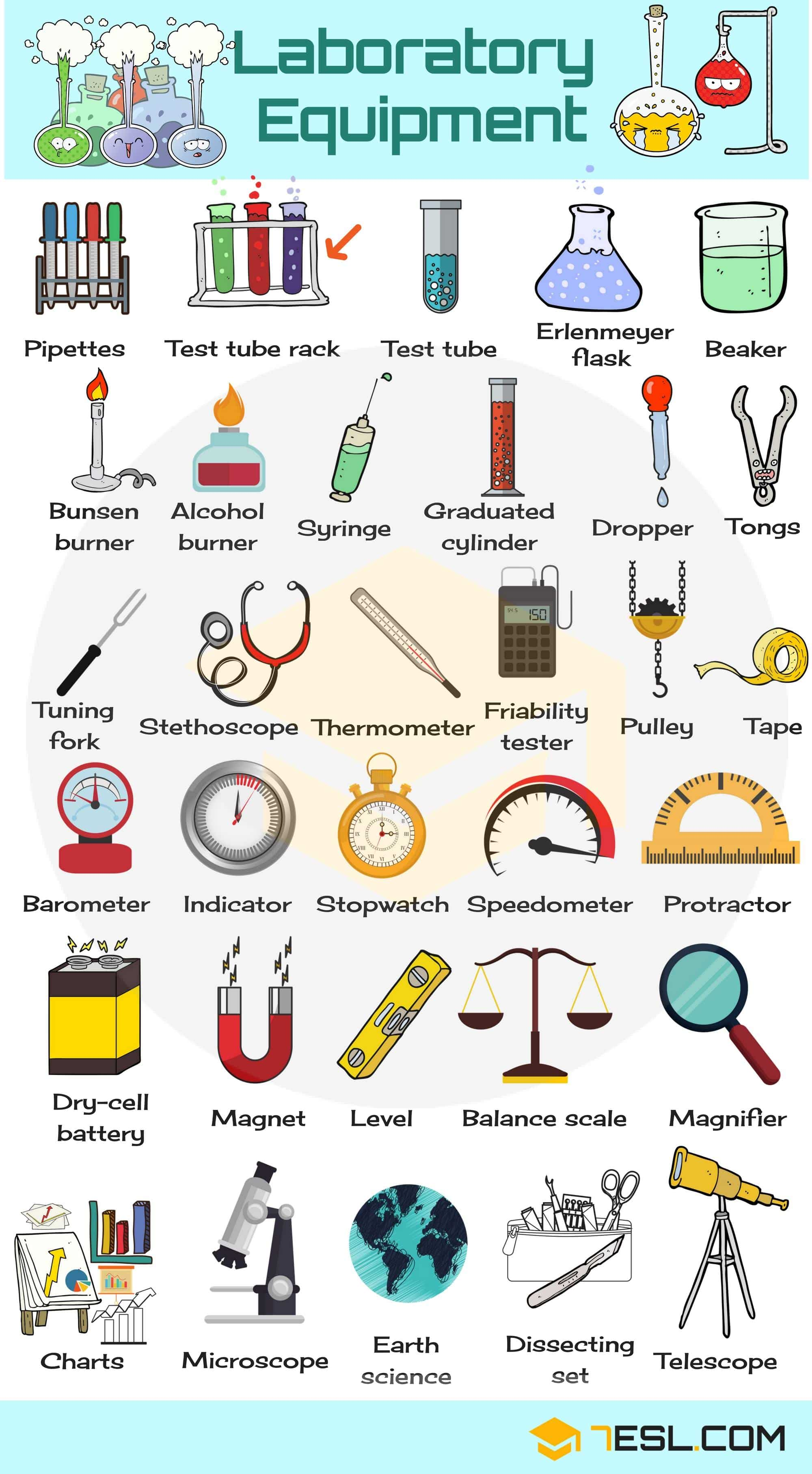Laboratory Equipment Vocabulary | Picture
