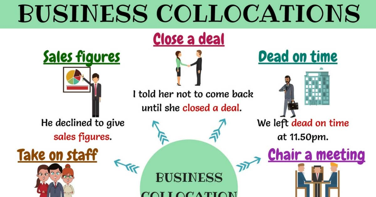 Business Phrases: 30+ Common Business Collocations 12