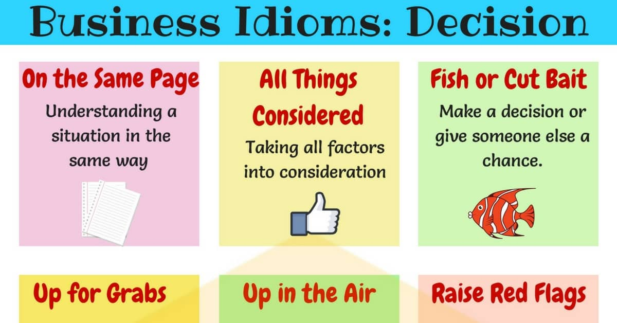 15 Useful Business Idioms for Making Decisions 1