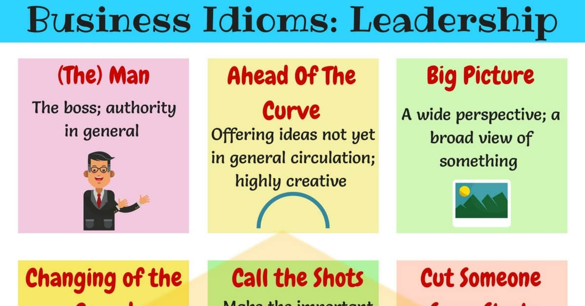15+ Common Phrases & Idioms about Leadership in English 11