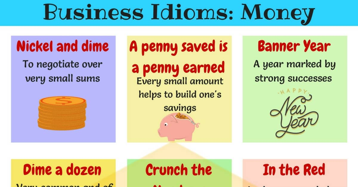 Money Idioms & Sayings: Idioms about Money and Finance 1