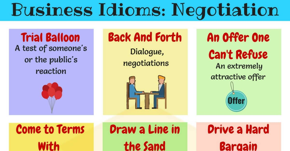 Useful Idioms for Business Negotiations in English 1