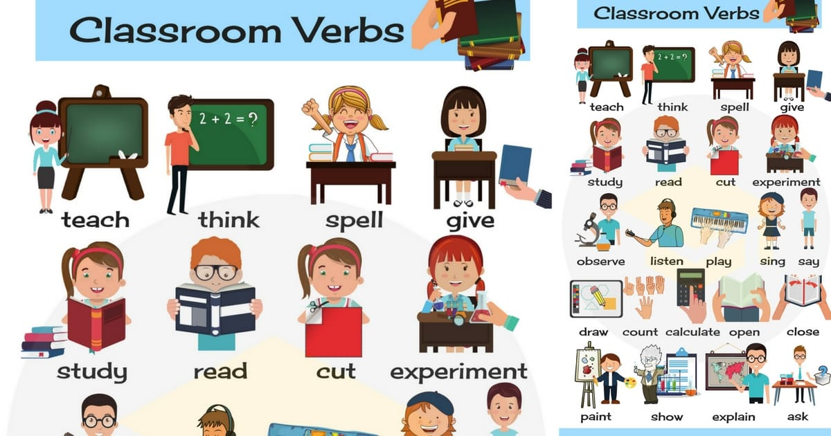 Classroom Verbs in English | Classroom Vocabulary 25
