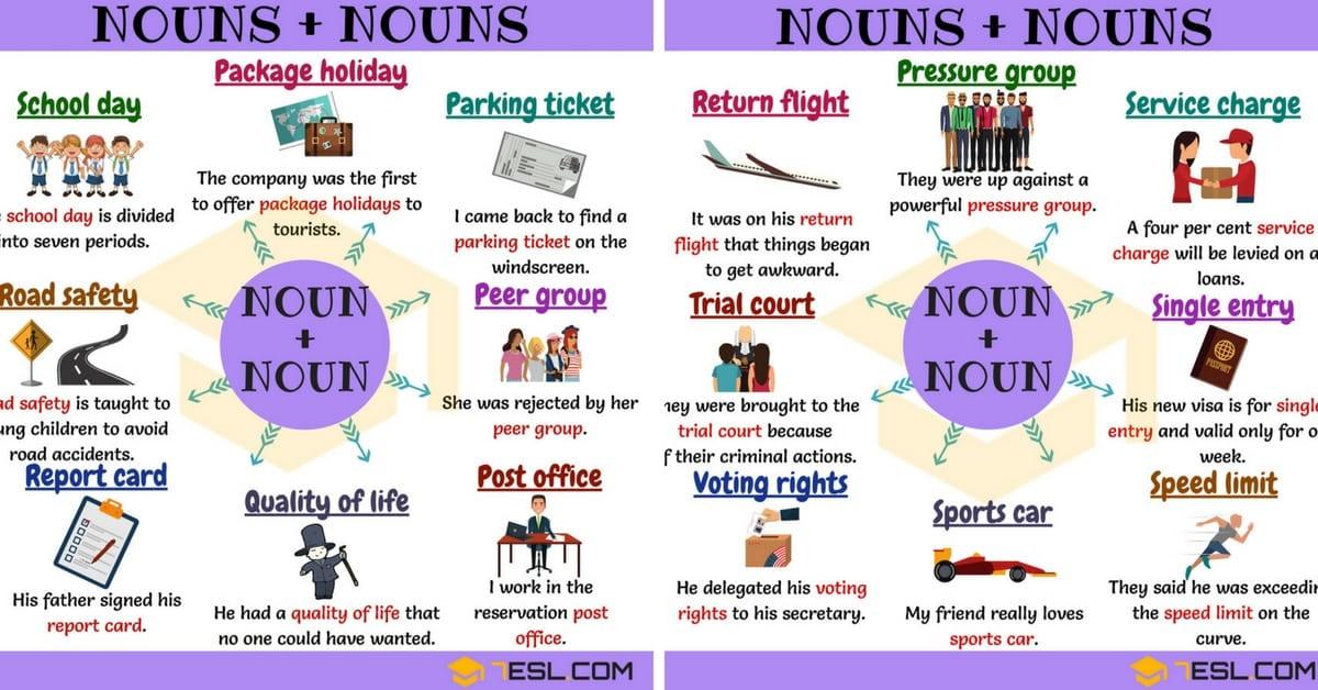 Noun + Noun: +65 Common Noun Collocations in English (P-W) 1