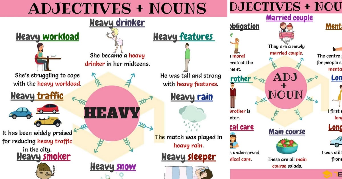 75+ Common Adjective and Noun Collocations in English (H-M) 1