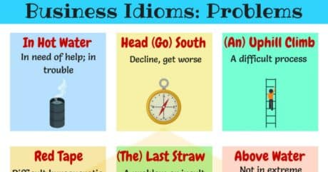 10+Useful English Idioms for Problems and Difficulties 1