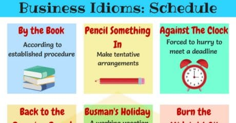 20+ Business English Idioms about Schedules and Planning 15