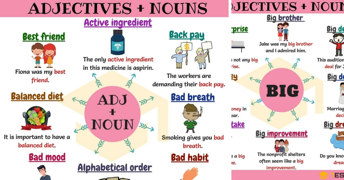300+ Useful Adjective Noun Combinations from A-Z 8