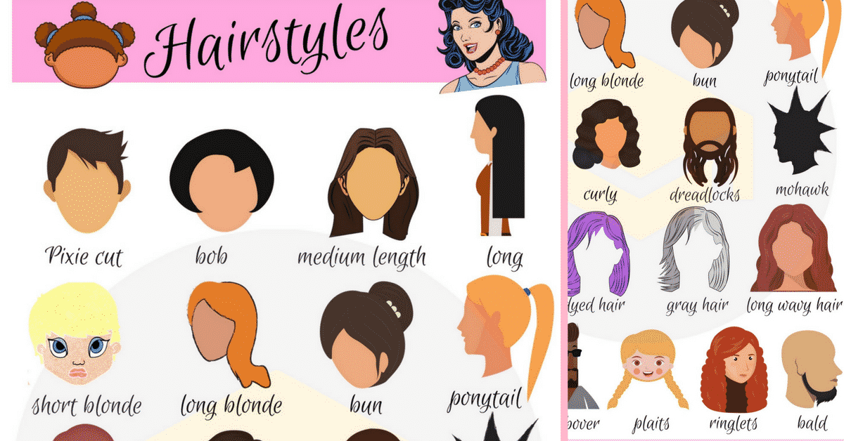 Hairstyle Vocabulary In English Getting A Haircut 7 E S L
