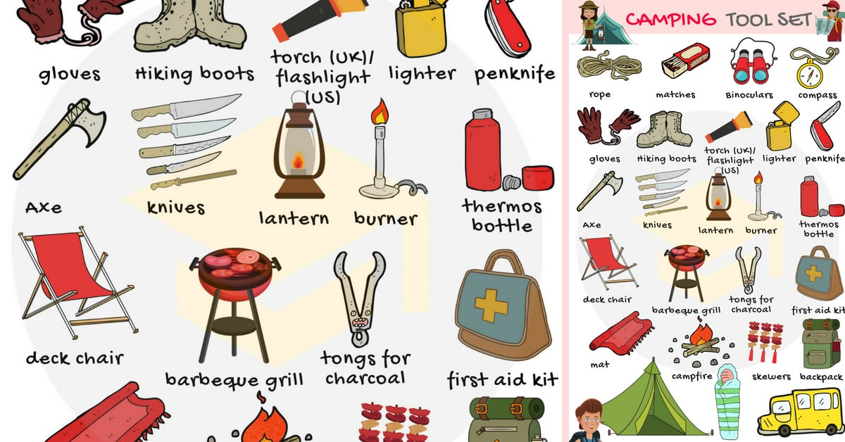 Camping Checklist: Useful Camping List with Pictures 1