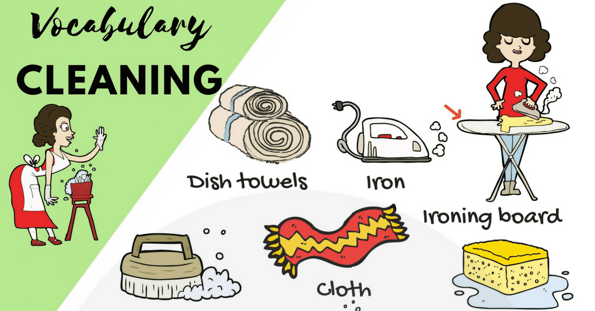 Cleaning Supplies: List of House Cleaning & Laundry Vocabulary 1