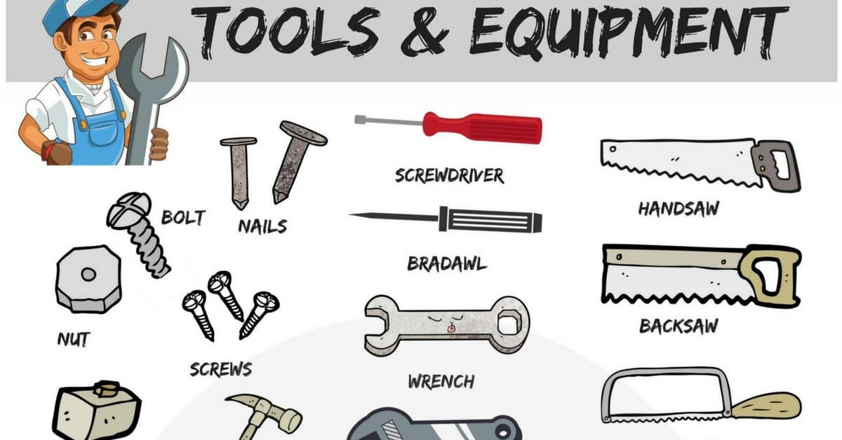 Tools Vocabulary in English | 30+ Tools with Names and Pictures 1