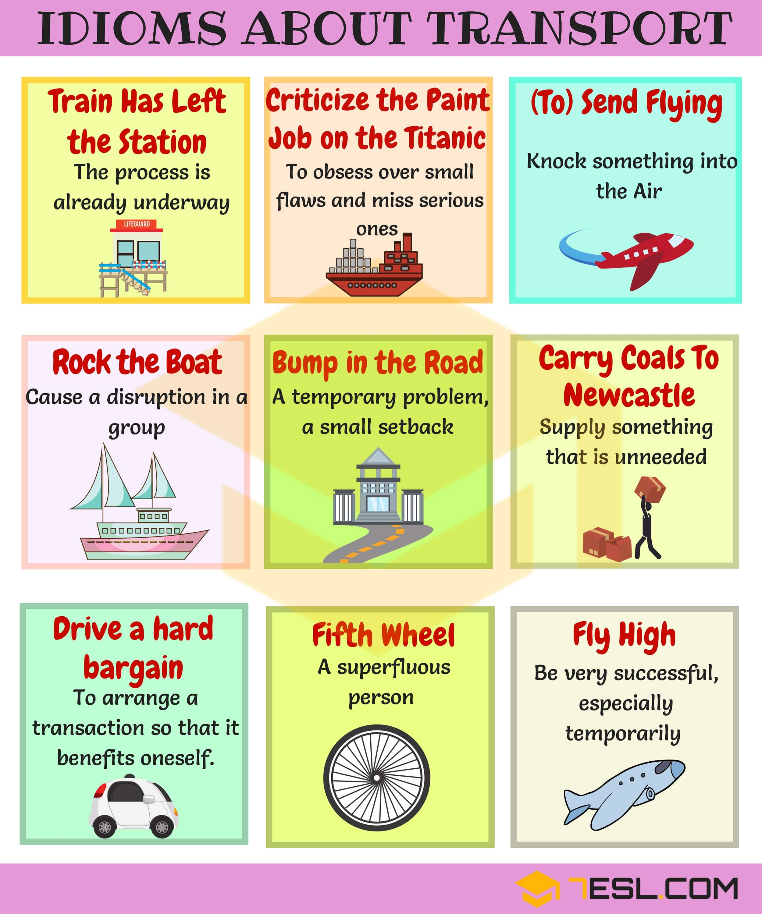 TRAVEL Idioms: 60+ Useful Transport and Travel Idioms in English