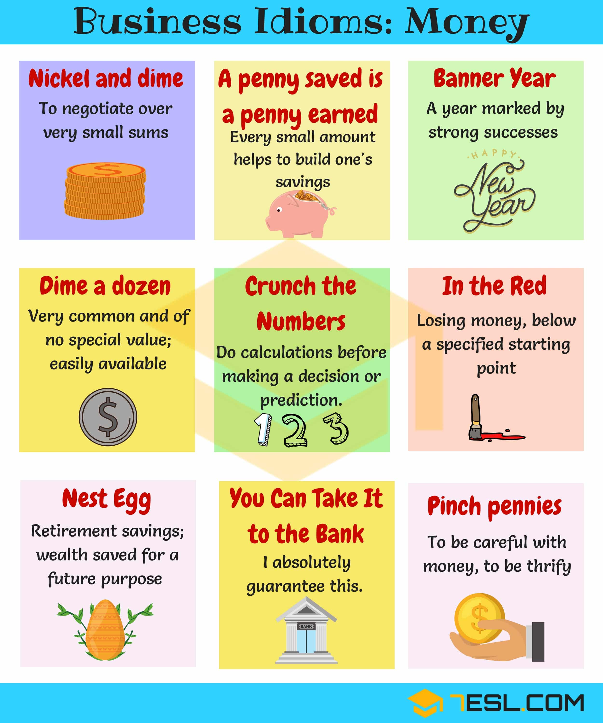 Useful Business Expressions and Idioms about Money | Business Idioms Image 3
