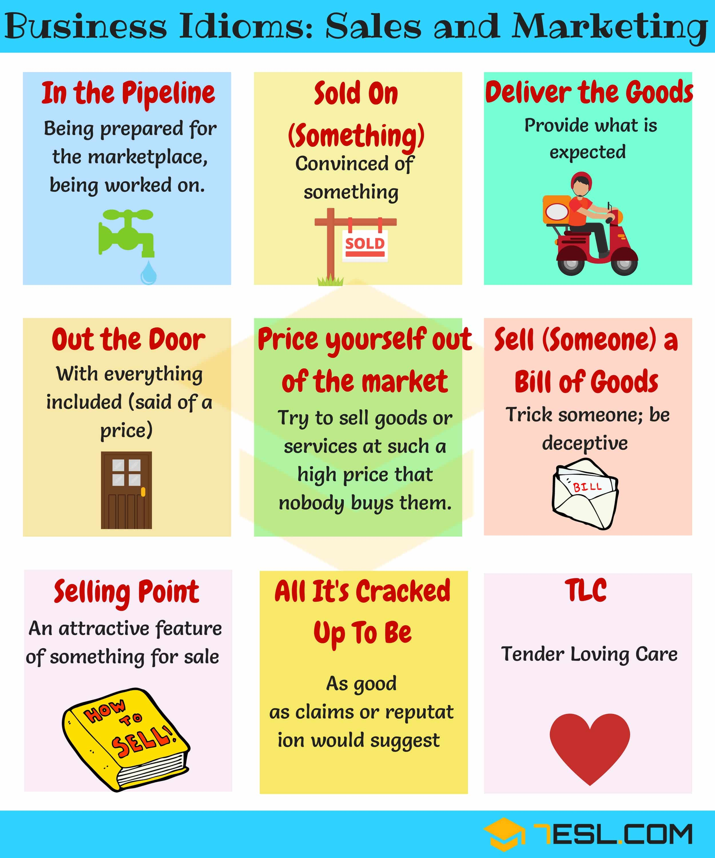 Common business expressions and idioms about sales and marketing | Business Idioms Image 4