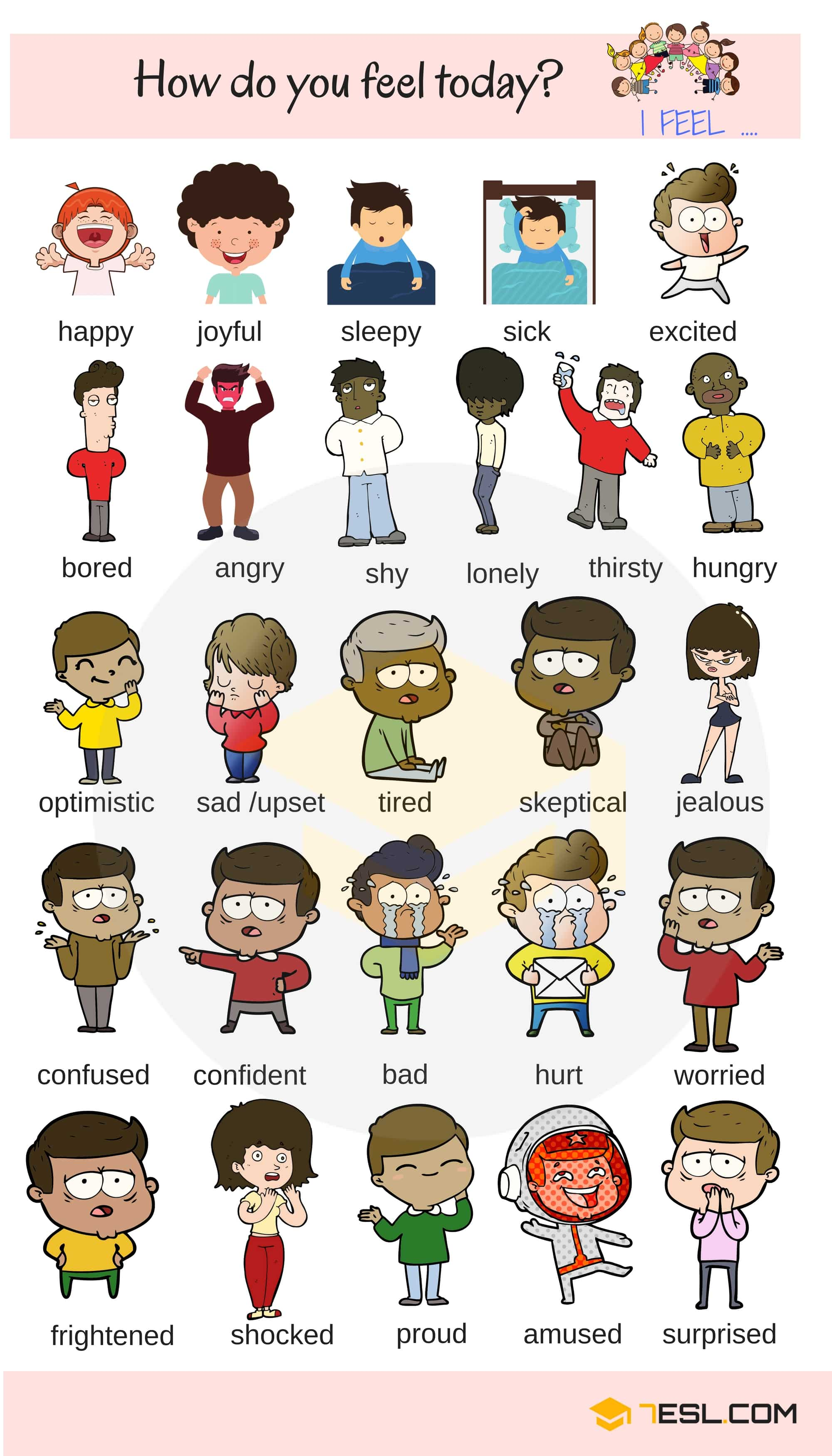 Feelings and Emotions Adjectives Examples | Picture 3