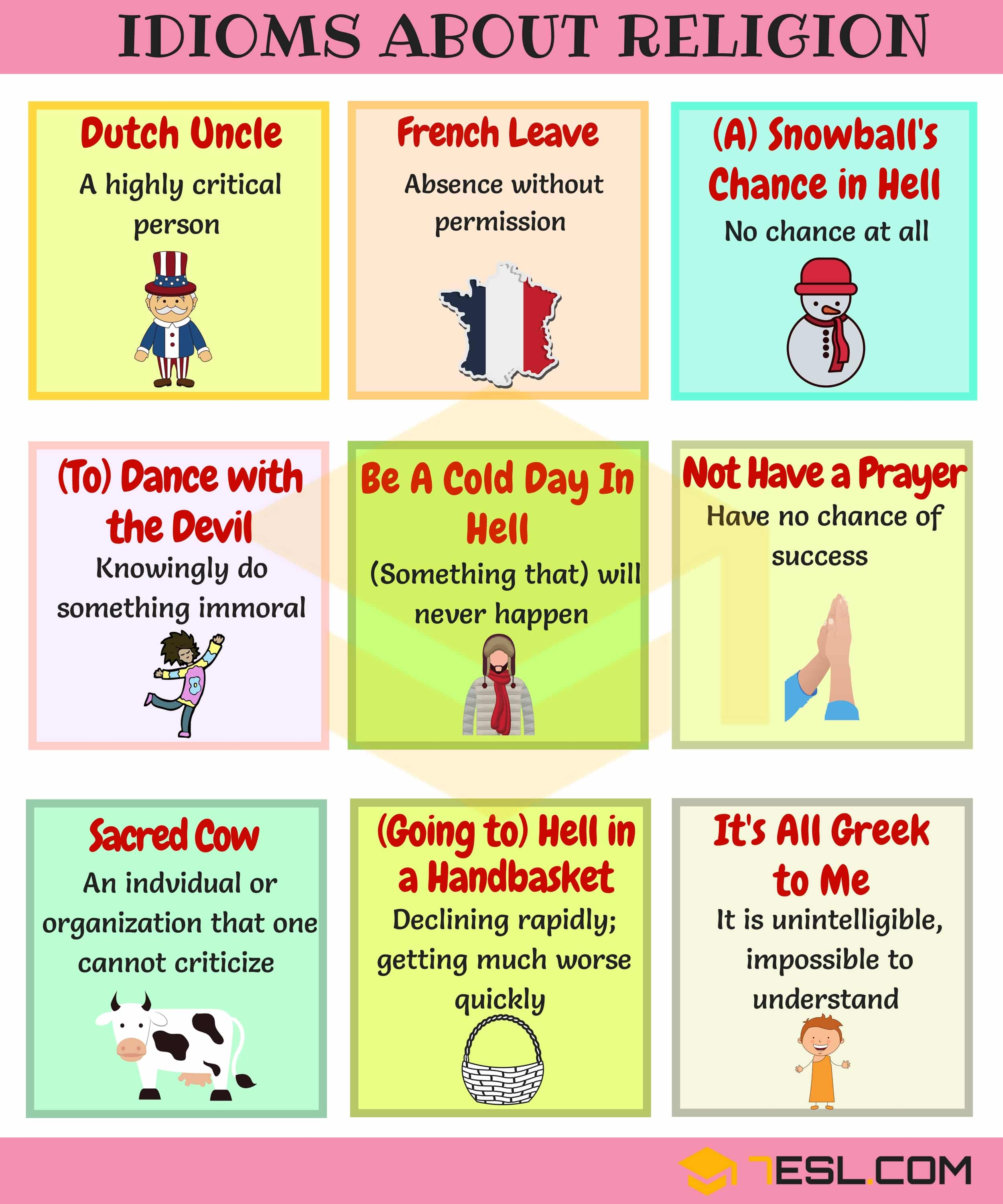 Frequently Used Religion and Ethnicity Idioms in English