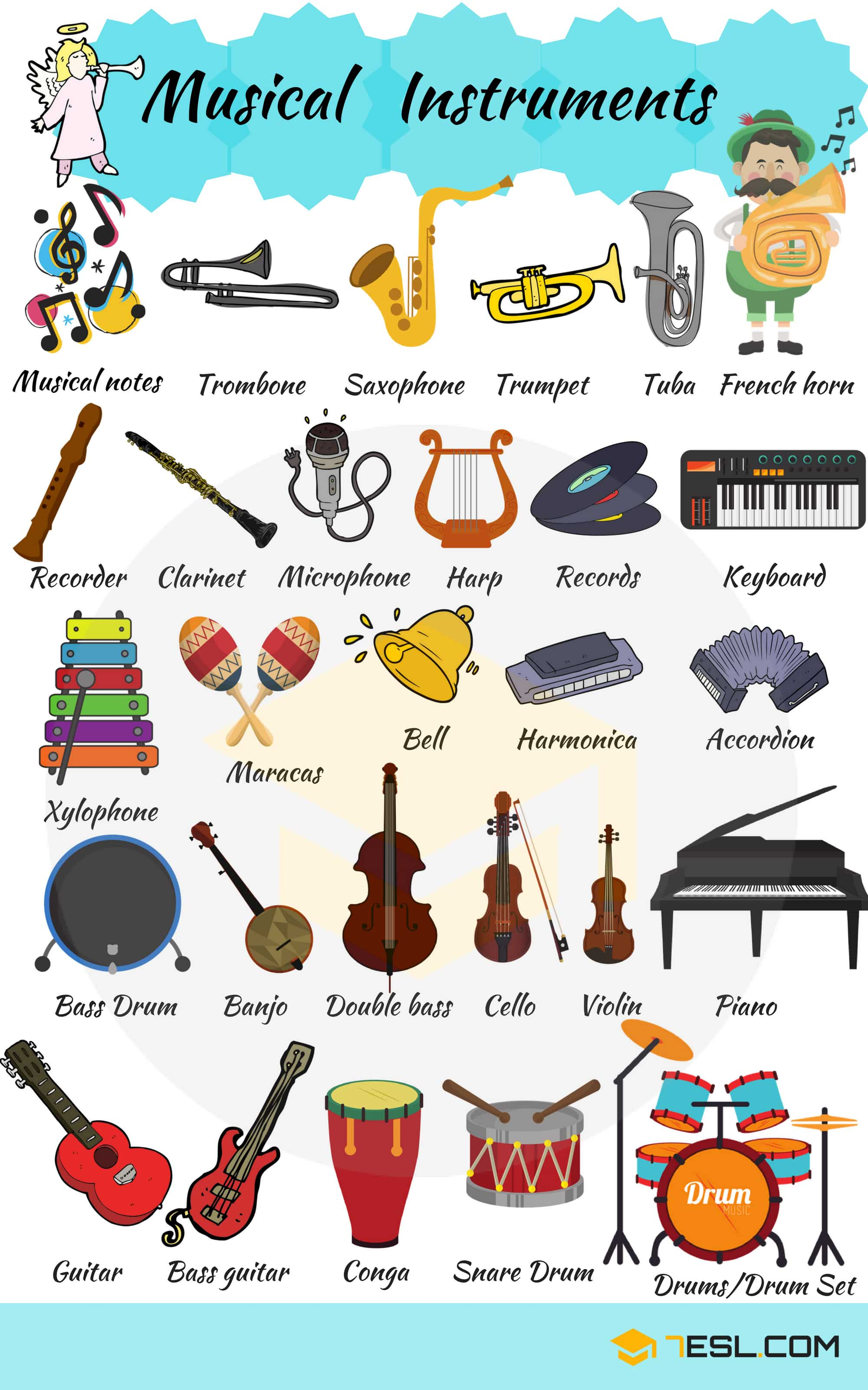 Musical Instruments Vocabulary | Picture