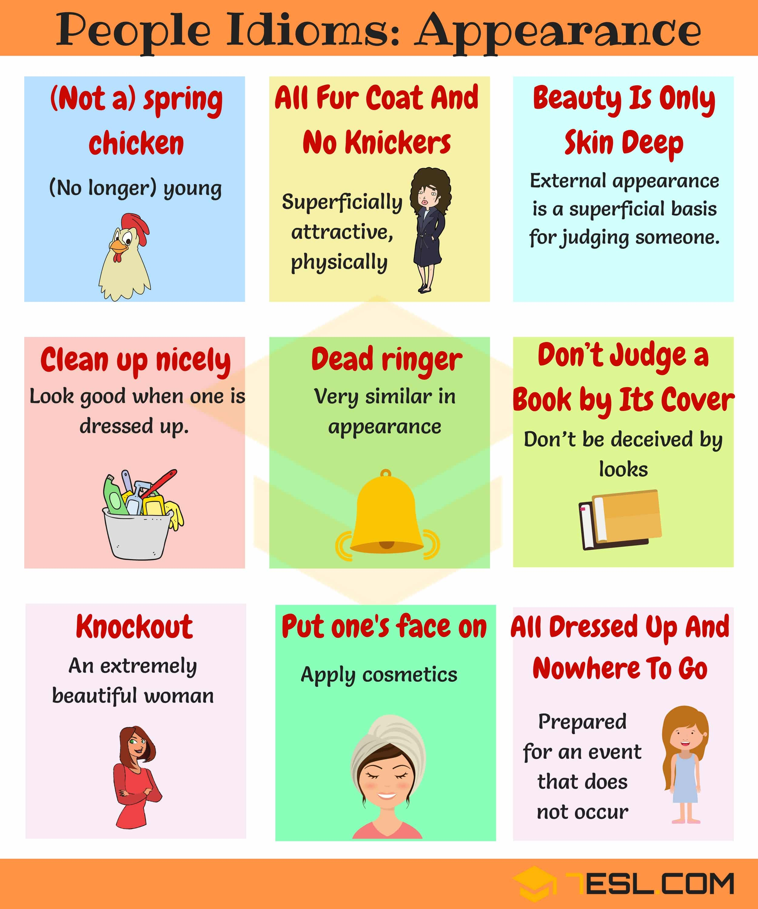 Idioms about Appearance