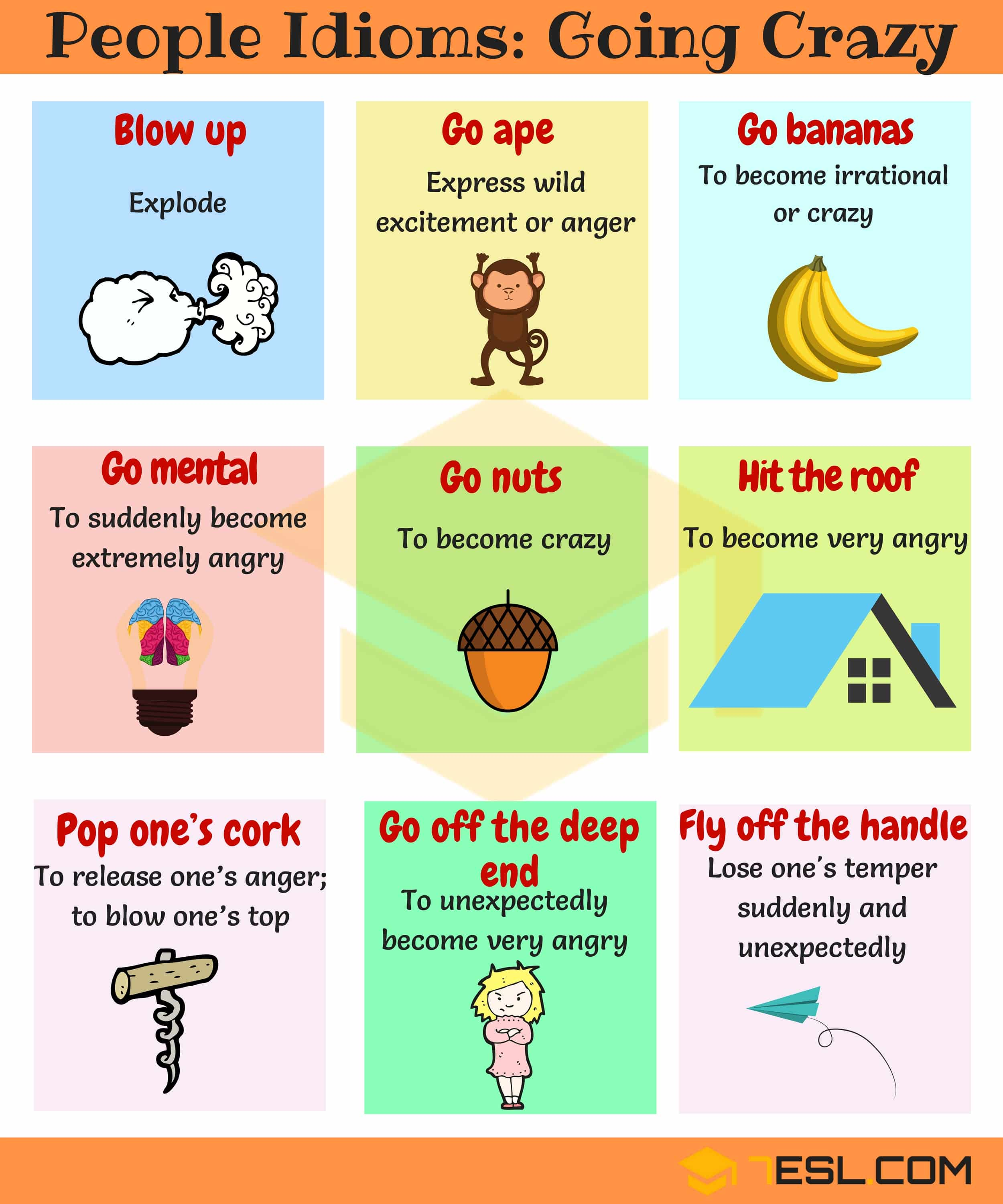 Commonly Used People Idioms in English 6