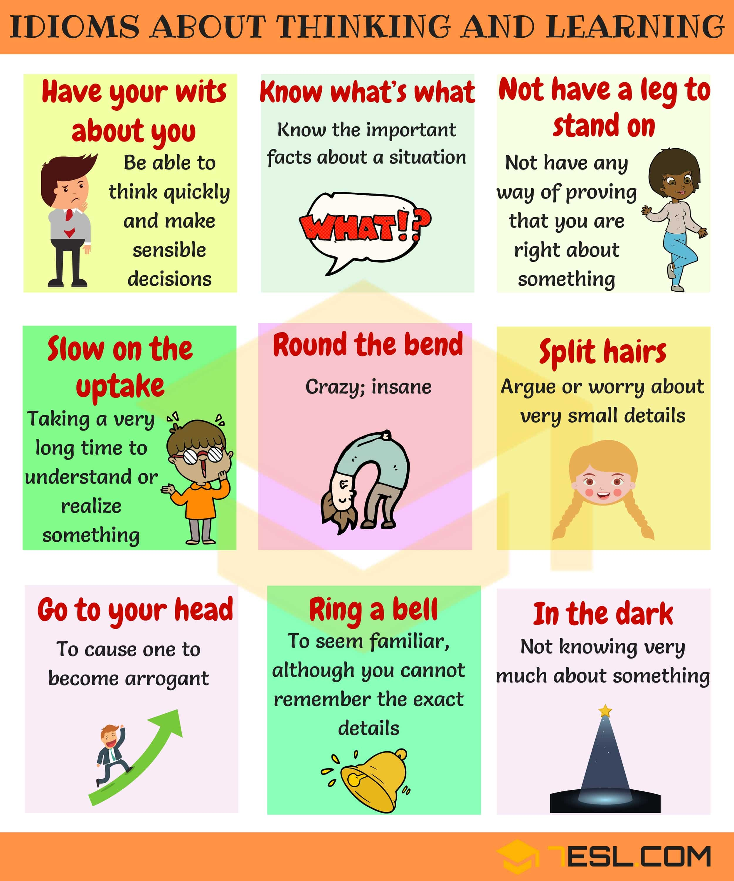 Commonly Used People Idioms in English 15
