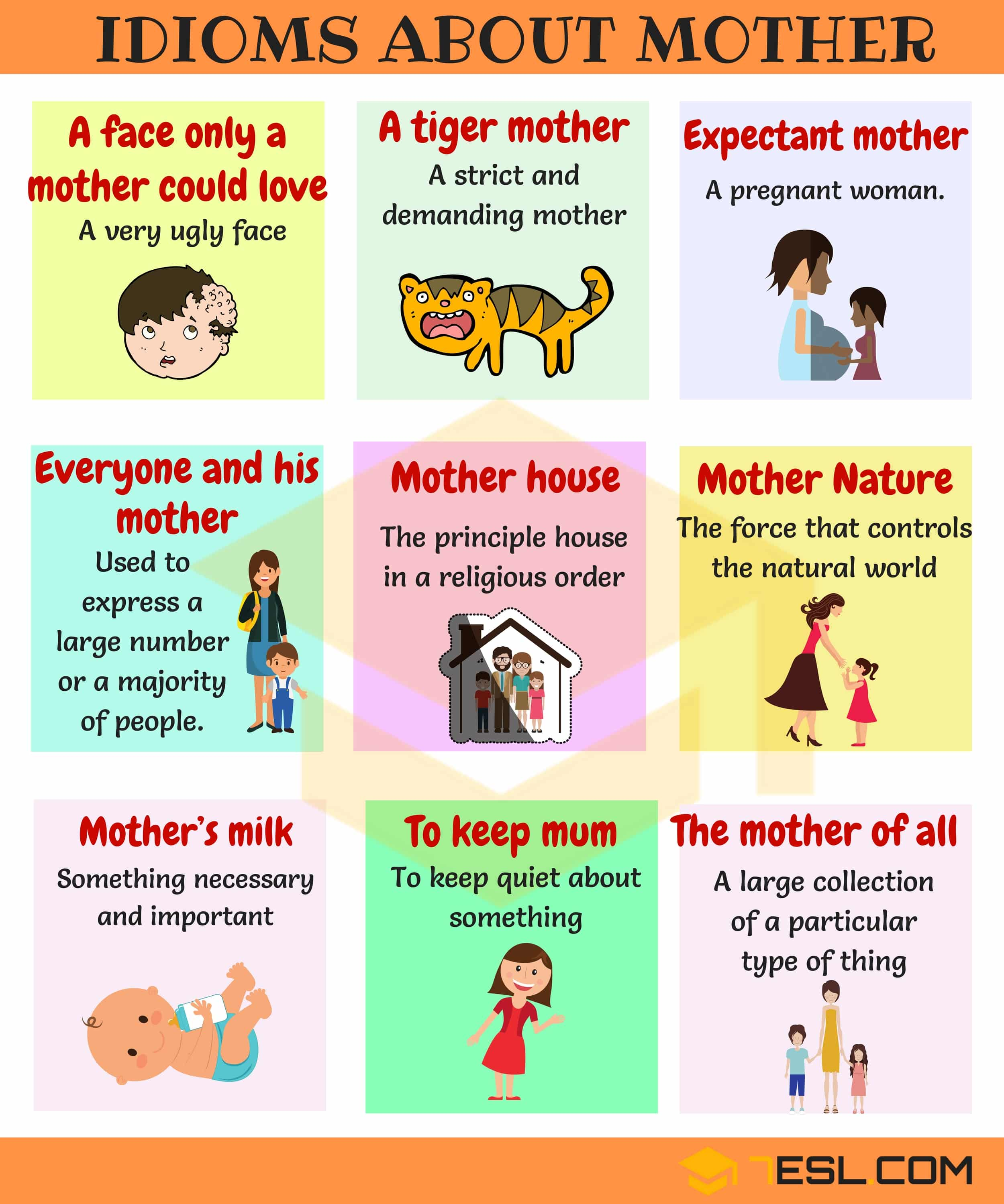 Idioms about Mothers | Family Idioms