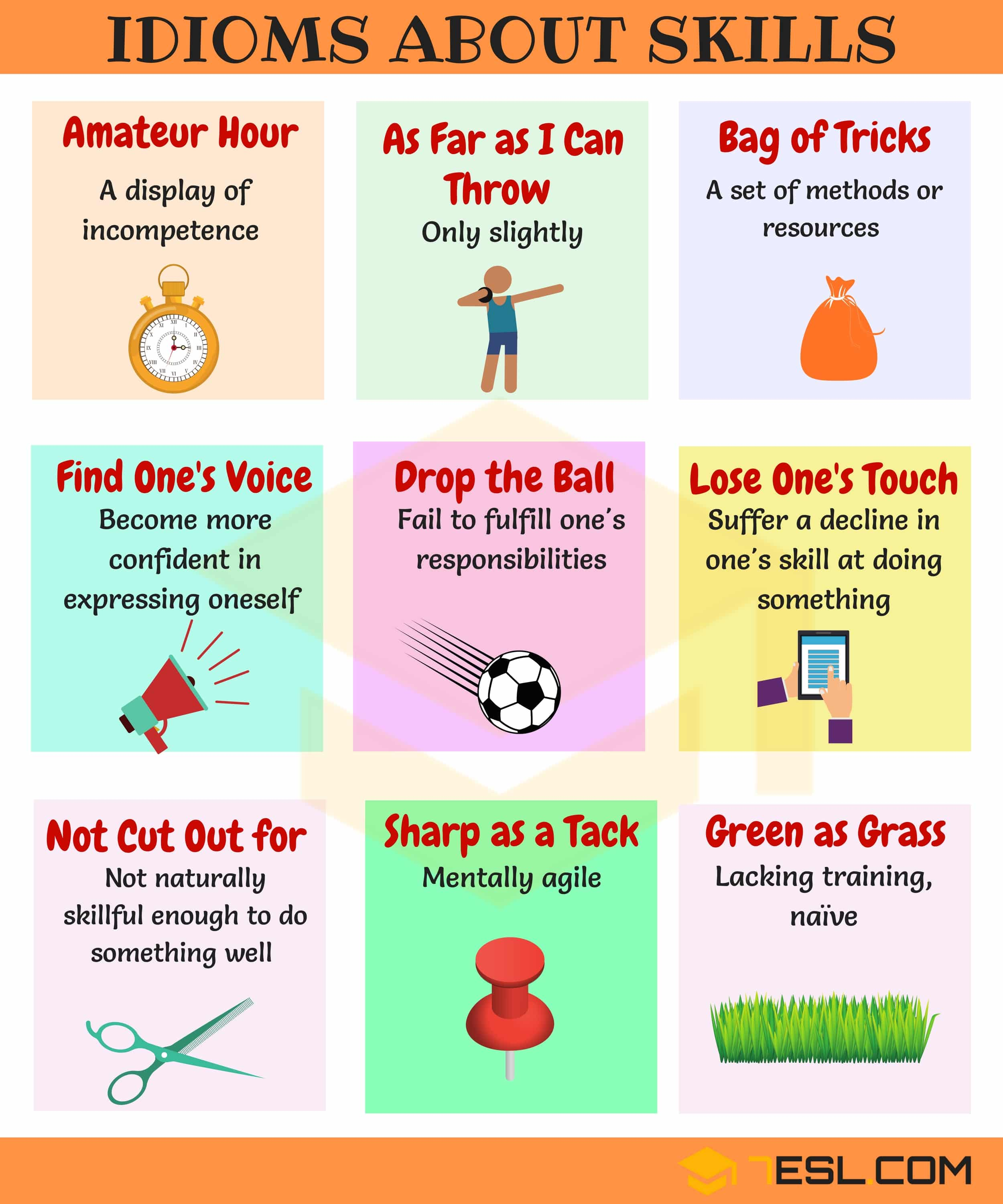 10 Useful Idioms About Skills In English With Examples 7 E S L