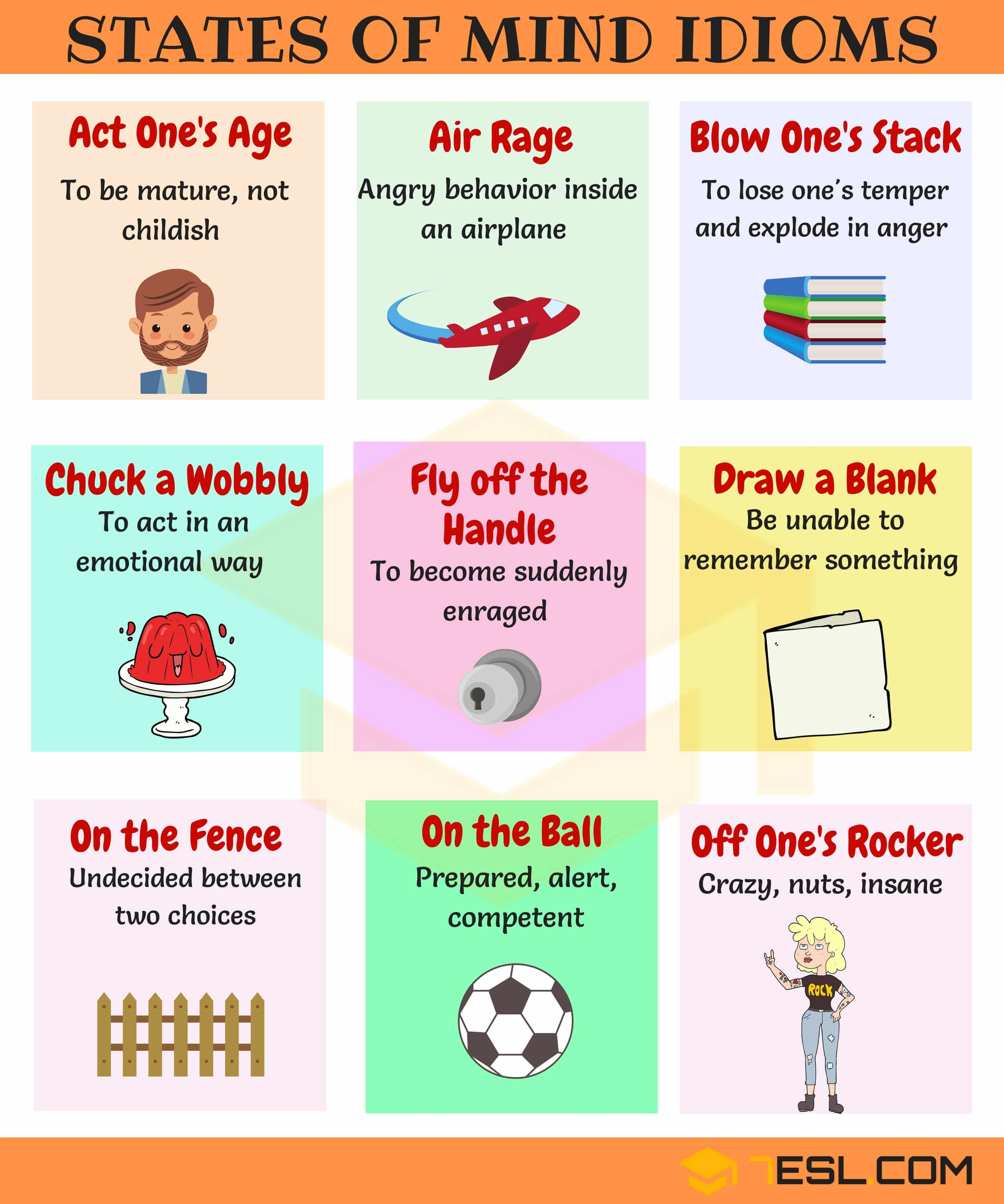Commonly Used People Idioms in English 14