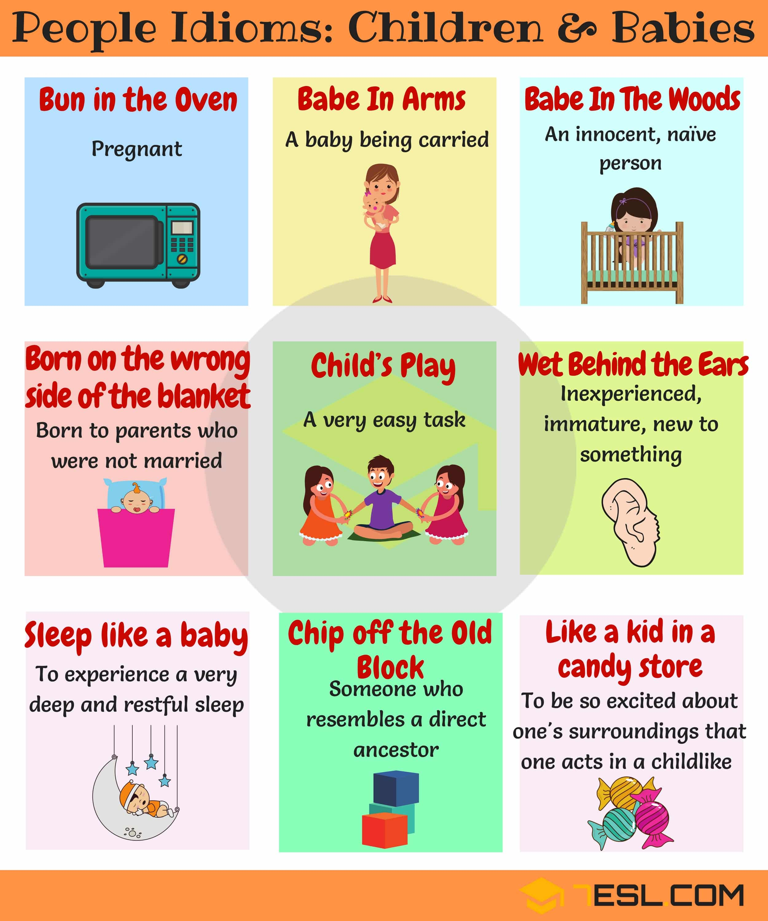 Commonly Used People Idioms in English 2
