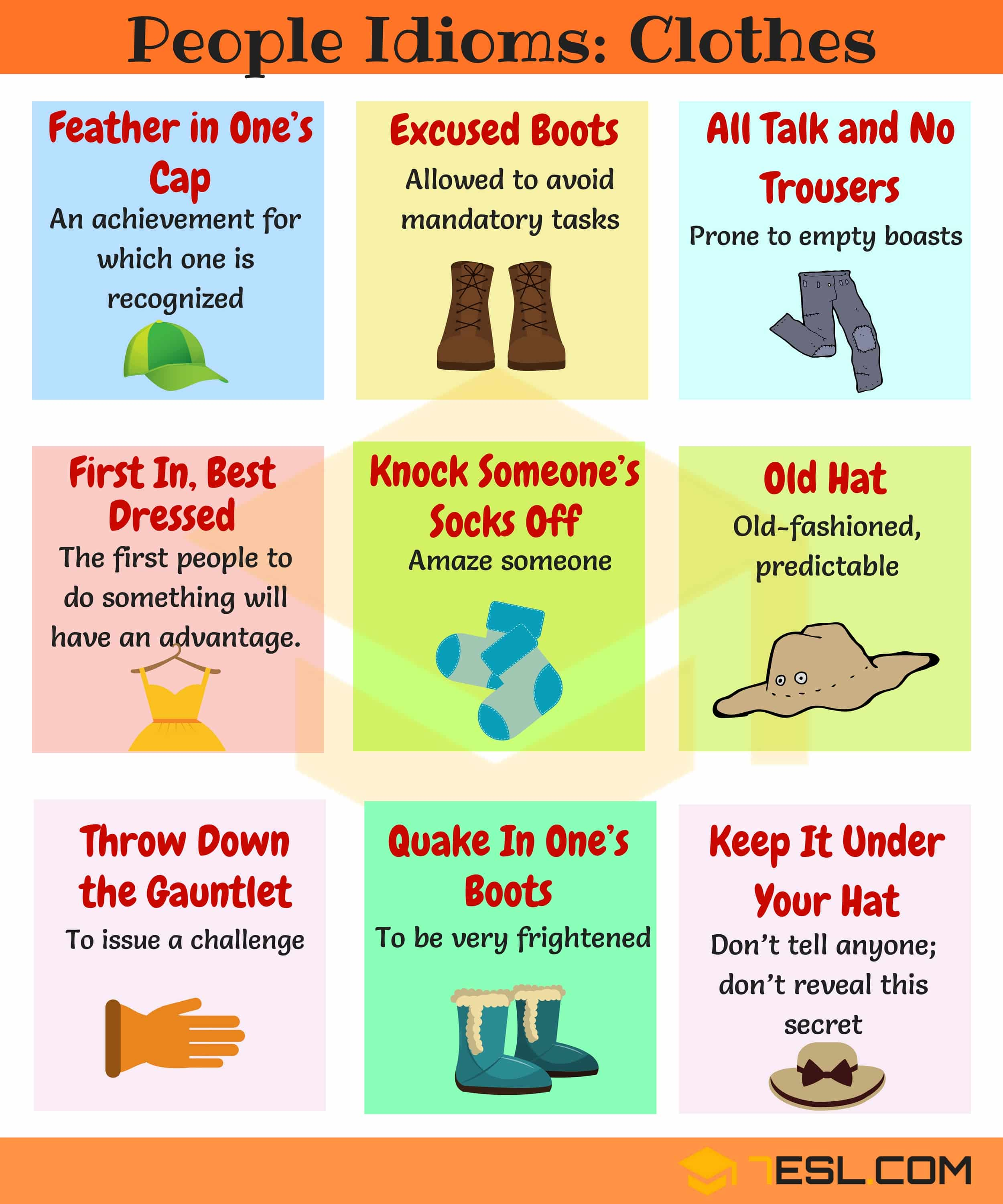 Commonly Used Clothes Idioms in English