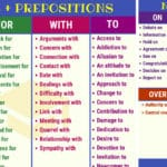 Common Noun and Preposition Collocations in English