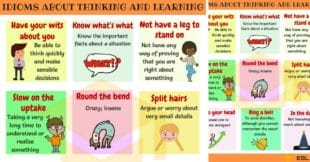 Common Idioms about Thinking and Learning in English
