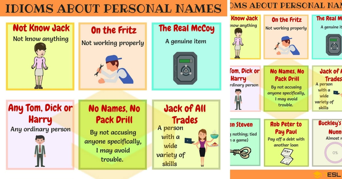 Useful Personal Names Idioms with Examples and Definition 1