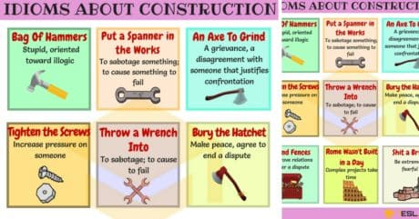 Commonly Used Construction Idioms in English 9