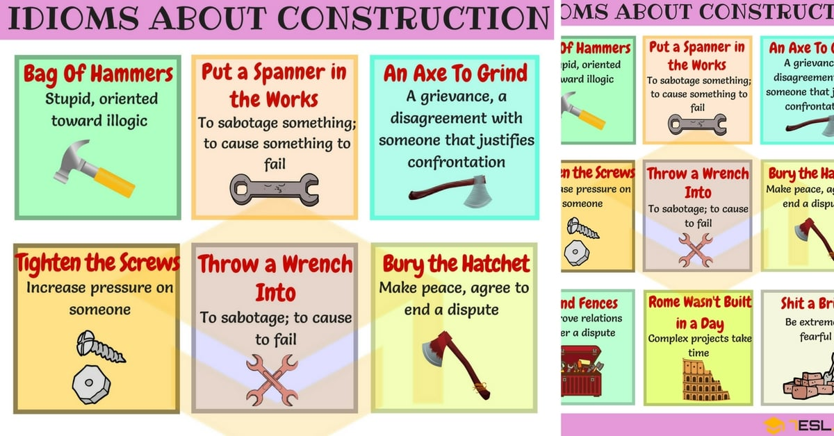 Construction Idioms: Phrases & Idioms about Construction 1